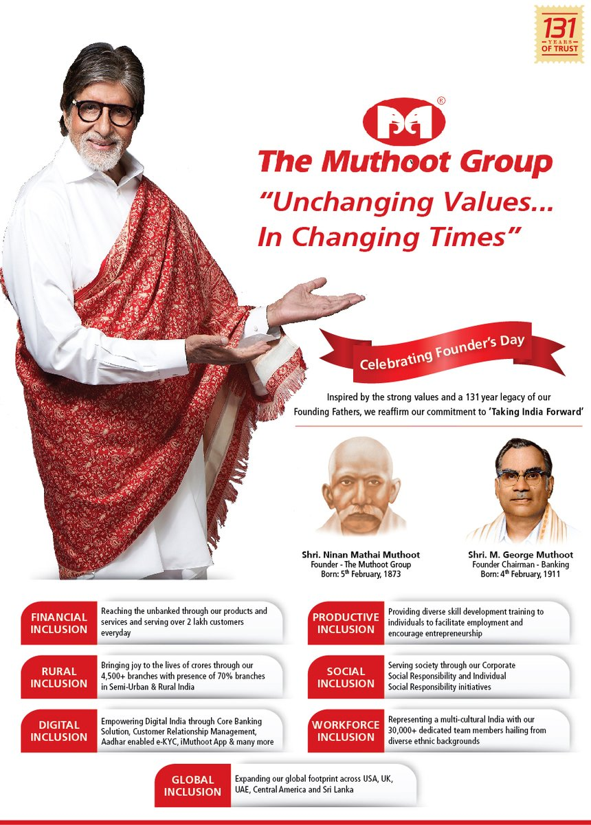 0def2271741 Muthoot group signs up Amitabh Bachchan as their brand ambassador ...